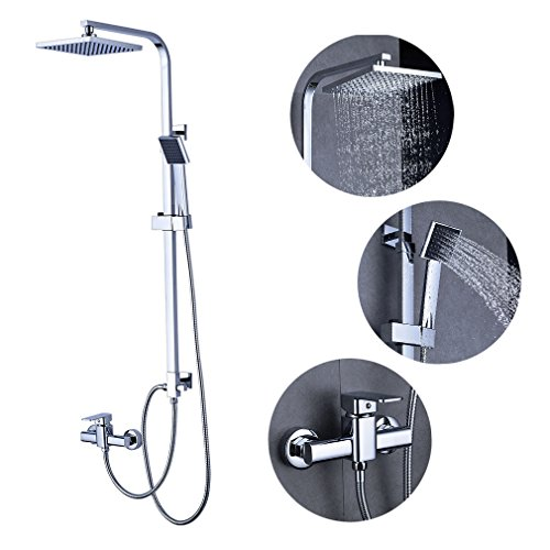 duscharmatur regendusche duschbrause duschsystem inkl handbrause shower duschset. Black Bedroom Furniture Sets. Home Design Ideas