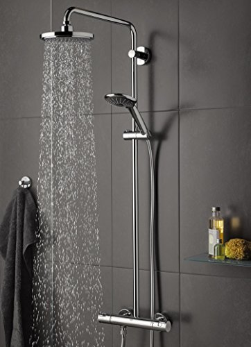 grohe vitalio joy 180 duschsystem mit thermostat 27298001. Black Bedroom Furniture Sets. Home Design Ideas