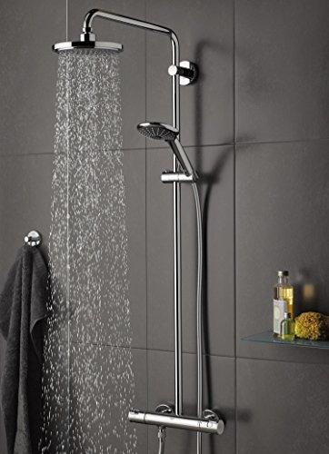 grohe vitalio joy 180 duschsystem mit thermostat 27298001. Black Bedroom Furniture Sets. Home Design Ideas