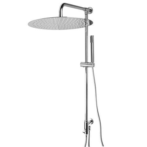 paulgurkes design aufputz regendusche komplettes set mit 30cm grossem duschkopf rund extra. Black Bedroom Furniture Sets. Home Design Ideas