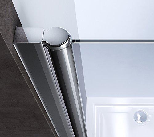 100x190 cm nischent r nischendreht r teramo22 mit dreht r esg sicherheitsglas klarglas. Black Bedroom Furniture Sets. Home Design Ideas