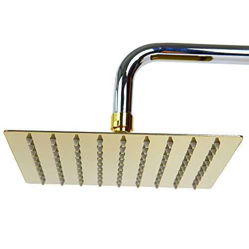 20cm regendusche regenbrause brause duschkopf kopfbrause gold01 duschk pfe. Black Bedroom Furniture Sets. Home Design Ideas