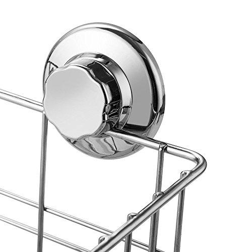 arcci k chen badezimmer rostbest ndige rechteckige lagerungssaugn pfe duschkorb saugnapf. Black Bedroom Furniture Sets. Home Design Ideas