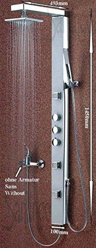 aluminium duschpaneel duschs ule von sanlingo duschk pfe. Black Bedroom Furniture Sets. Home Design Ideas