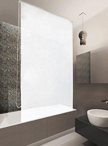 basic duschrollo 100x240 cm uni weiss duschvorhang shower rollo curtain duschk pfe. Black Bedroom Furniture Sets. Home Design Ideas
