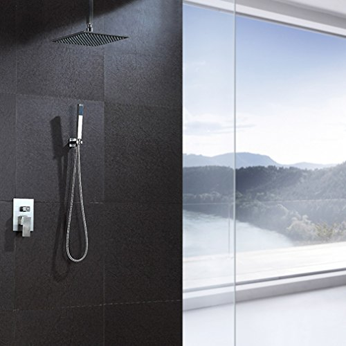 bonade led rgb unterputz duschsystem 30 30cm regendusche. Black Bedroom Furniture Sets. Home Design Ideas