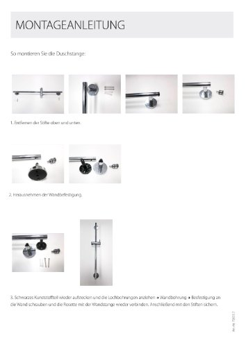 brausestange lido 60 cm 18 mm wandstange duschstange chrom duschk pfe. Black Bedroom Furniture Sets. Home Design Ideas