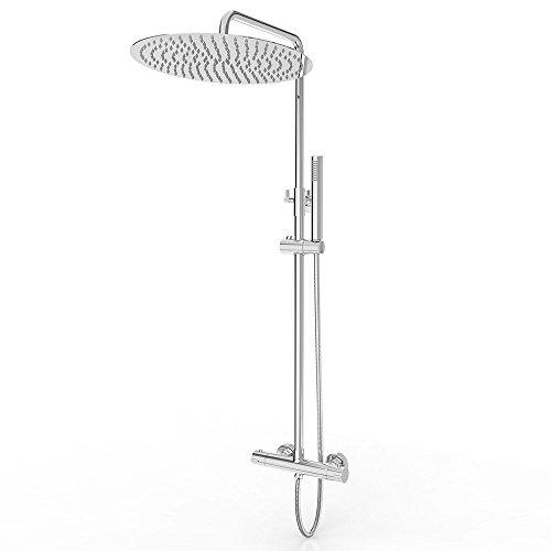 design duscharmatur mit thermostat handbrause und w hlbarem duschkopf duschk pfe. Black Bedroom Furniture Sets. Home Design Ideas