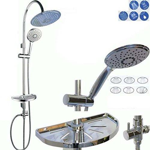dusch set brauseset duschsystem duschgarnitur duschstange 5 fach verstellbare kopfbrause. Black Bedroom Furniture Sets. Home Design Ideas