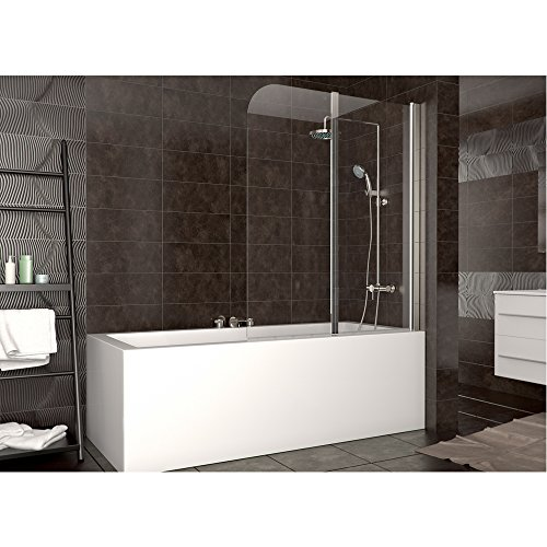 duschabtrennung badewanne duschwand badewannenfaltwand glas dusche din rechts duschk pfe. Black Bedroom Furniture Sets. Home Design Ideas