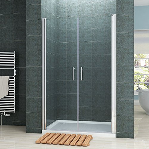 dusche nischenabtrennung duschkabine duschabtrennung duscht r pendelt r 90cm duschk pfe. Black Bedroom Furniture Sets. Home Design Ideas