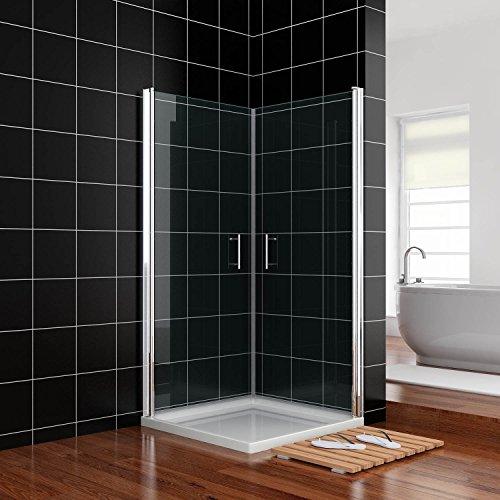 duschkabine 90x90cm duscht r nische schwingt r rahmenlos duschabtrennung echtglas links rechts. Black Bedroom Furniture Sets. Home Design Ideas