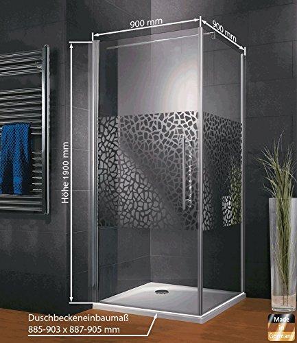 duschkabine dusche 90x90 eckeinstieg duschabtrennung glas. Black Bedroom Furniture Sets. Home Design Ideas