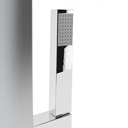 duschpaneel led inkl thermostat armatur regendusche duscharmatur wasserfall duschs ule duschk pfe. Black Bedroom Furniture Sets. Home Design Ideas