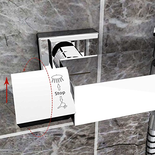 duschset chrom quadratisch duschsystem duscharmatur berkopfbrause regendusche handbrause. Black Bedroom Furniture Sets. Home Design Ideas