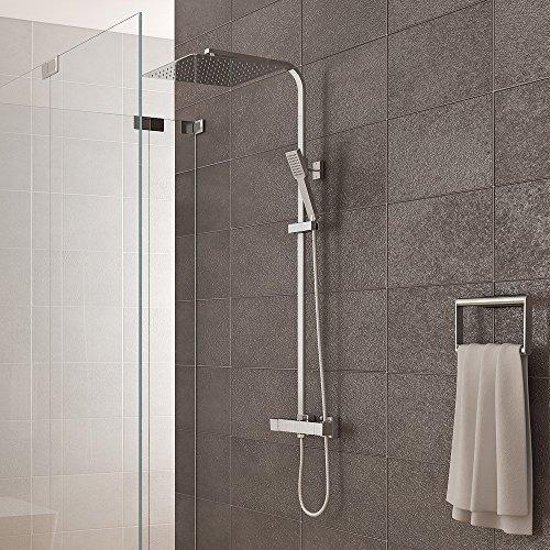 duschsystem inkl thermostat duschkopf 30x30cm handbrause duscharmatur dusche duschk pfe. Black Bedroom Furniture Sets. Home Design Ideas