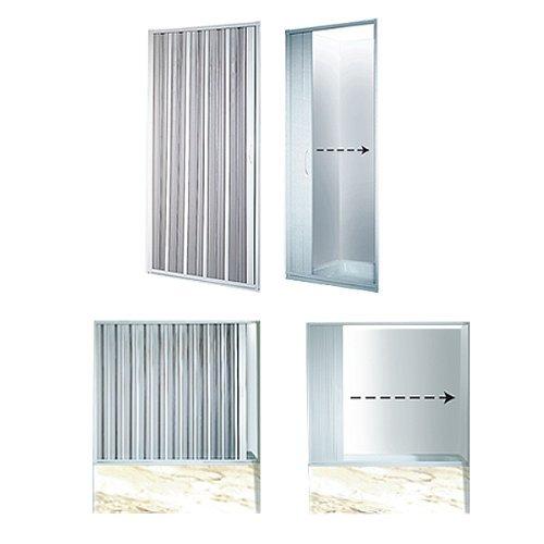Duschwand variable breite duschabtrennung faltwand duscht r badewannenaufsatz dusche duschk pfe - Faltwand dusche ...