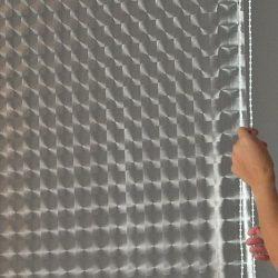 -/> ECO-DuR Kassetten ECK Duschrollo 137 x 62 cm -/> Tropfen weiß