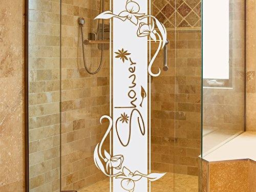 Glasdekor Fensterfolie Duschkabine Für Badezimmer Spruch