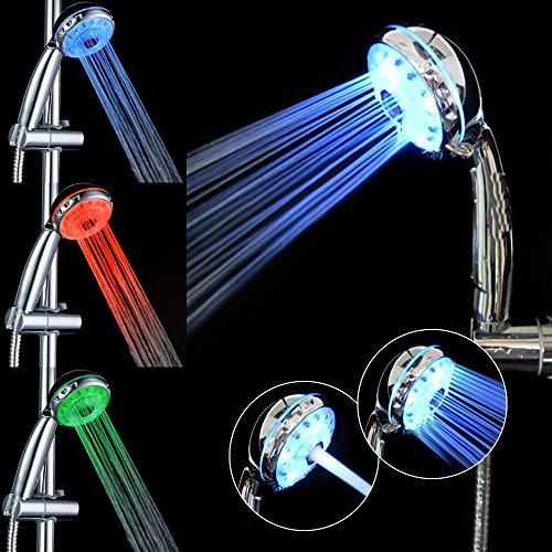 greforest 3 farben ndern leuchten led duschkopf f r badezimmer duschk pfe. Black Bedroom Furniture Sets. Home Design Ideas
