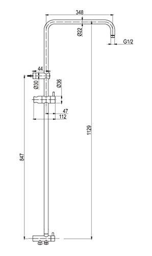gr nblatt wellness duschsystem steigrohr mit umschaltventil und brauseschl uche ohne regenbrause. Black Bedroom Furniture Sets. Home Design Ideas