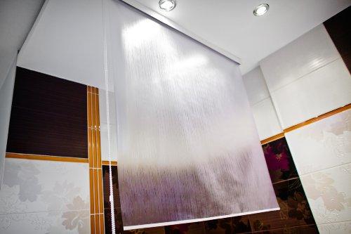 halb kassetten duschrollo peva 140x240 cm duschvorhang neu modell milky drops 140 breit 240. Black Bedroom Furniture Sets. Home Design Ideas
