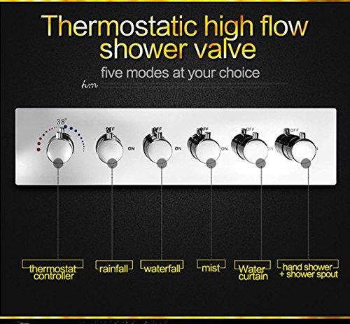 ht luxus led regen duschkopf groe regen led dusche set mit wasserfall duschkopf mit. Black Bedroom Furniture Sets. Home Design Ideas