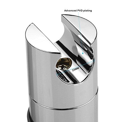 360/° drehbar Verchromt Orange Handbrause Halterung f/ür Slide Bar 18-25 mm Au/ßen Durchmesser Verstellbar Universal Brausehalter Duschhalterung ABS