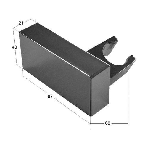 handbrause messing quadratisch mit brauseschlauch 150cm duschbrause brausehalter brausekopf. Black Bedroom Furniture Sets. Home Design Ideas