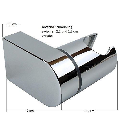 brausehalter neigungswinkel verstellbar abs verchromt wand halterung f r duschkopf. Black Bedroom Furniture Sets. Home Design Ideas