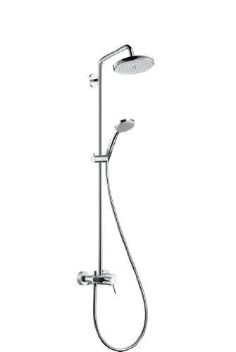 hansgrohe 27222000 croma 220 showerpipe mit brause armatur und schwenkbarem brausearm dn 15. Black Bedroom Furniture Sets. Home Design Ideas