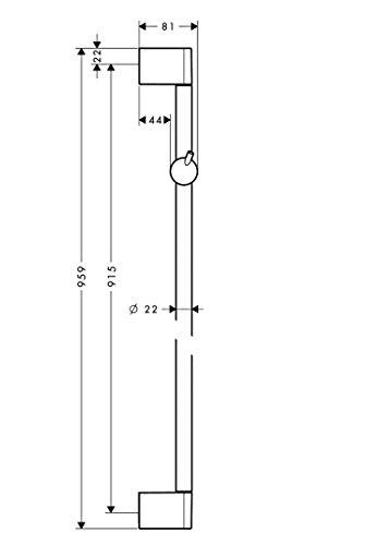 hansgrohe brausestange unica crometta brausestange 90 cm mit schieber verchromt 27609000. Black Bedroom Furniture Sets. Home Design Ideas