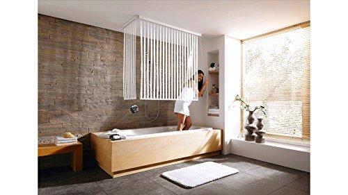hochwertiges eckduschrollo wannenrollo kleine wolke eck duschrollo komplettset wei. Black Bedroom Furniture Sets. Home Design Ideas