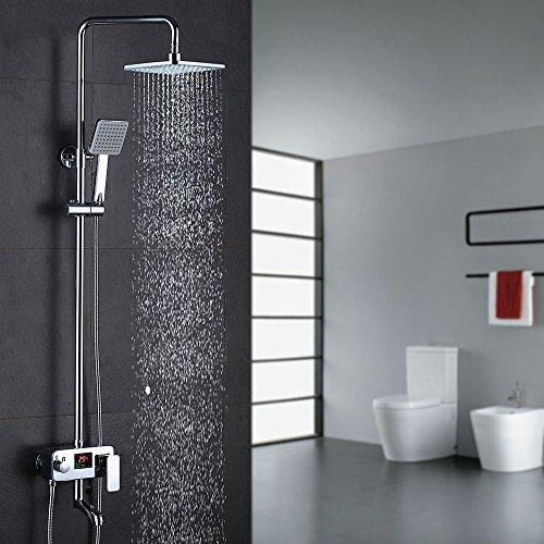 homelody duscharmatur drei funktionen duschsystem mit lcd wassertemperatur displayanzeige. Black Bedroom Furniture Sets. Home Design Ideas