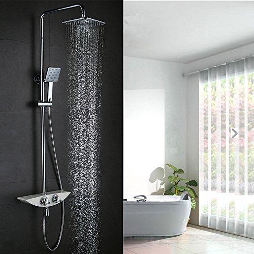Duschpaneel Edelstahl Handbrause Regendusche Duscharmatur Duschset Duschsystem