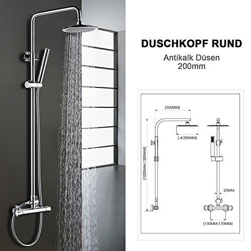 homitex thermostat duschset duschsystem regendusche messing verchromt duschs ule duschpaneel mit. Black Bedroom Furniture Sets. Home Design Ideas