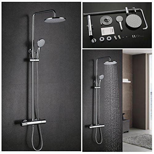 Unterputz Regendusche Duschkopf mit Handbrause Set Duschset Überkopf Regenbrause