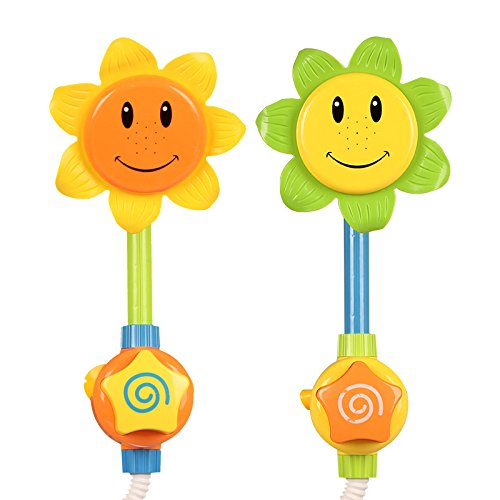 kinder sonnenblume dusche wasserhahn babybadewanne spielzeug geschenke duschk pfe. Black Bedroom Furniture Sets. Home Design Ideas