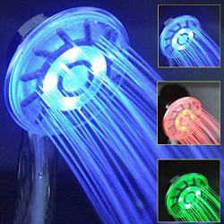 Drei Farbige LED Temperatursensor SPA Anion Handbrausen Dusche