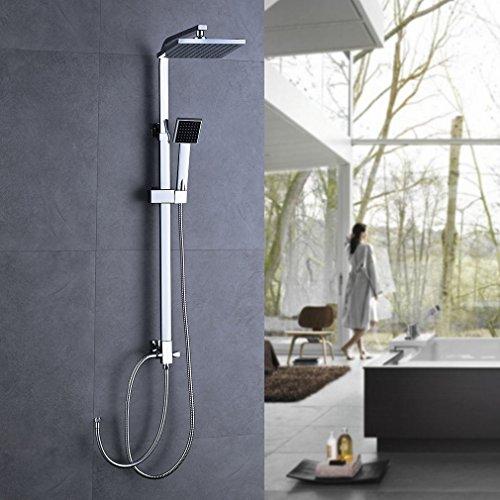 obeeonr duschset mit handbrause duscharmatur regendusche duschbrause shower regendusche ohne. Black Bedroom Furniture Sets. Home Design Ideas