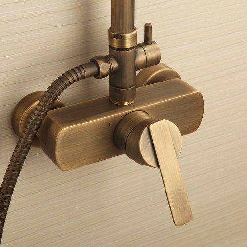 ouku messing antik badewanne dusche wasserhahn mit 8zollduschkopf handbrause duscharmaturen. Black Bedroom Furniture Sets. Home Design Ideas