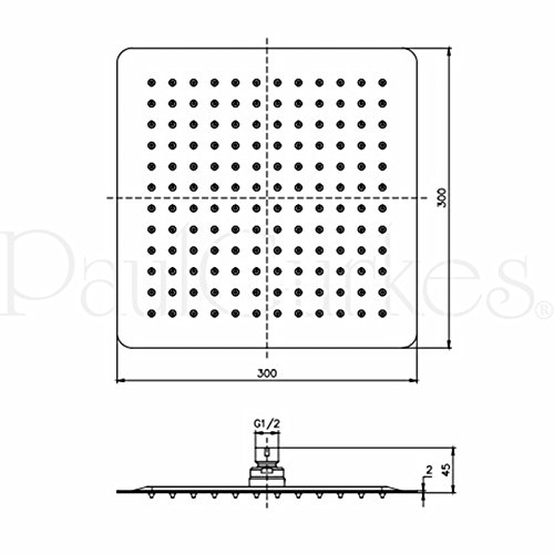 paulgurkes aufputz duschsystem brausegarnitur regendusche 30cm duschk pfe. Black Bedroom Furniture Sets. Home Design Ideas