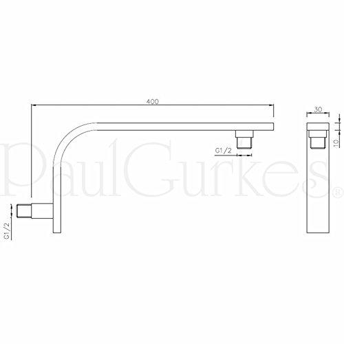 paulgurkes design duschkopf eckig mit wandarm duschk pfe. Black Bedroom Furniture Sets. Home Design Ideas