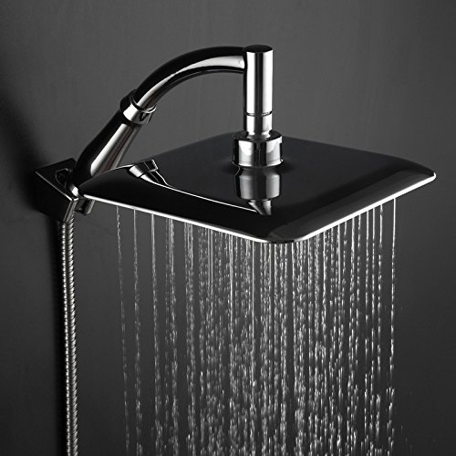 saejj starken luftdruck anpassen der brauseregen bestreut extra gro e dusche top duschkopf. Black Bedroom Furniture Sets. Home Design Ideas