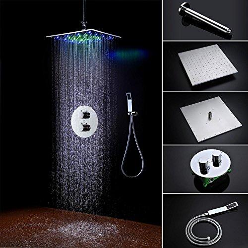 ht bad led dusche set zubeh r wasserhahn panel tippen sie auf thermostatische mischer led decke. Black Bedroom Furniture Sets. Home Design Ideas