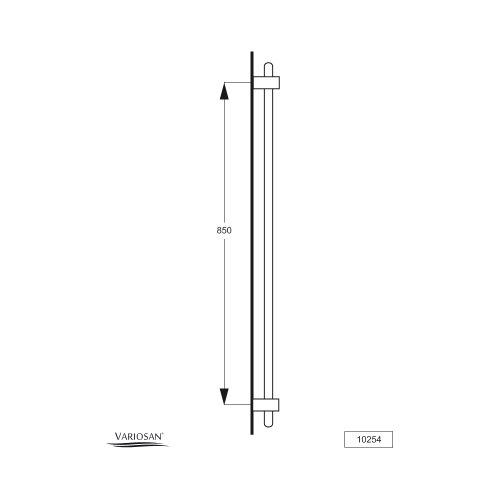variosan wandstange stable 10254 90 cm verchromt. Black Bedroom Furniture Sets. Home Design Ideas