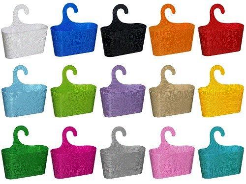 wohnideenshop duschkorb mit haken zum einh ngen und 15 anderen farben zum ausw hlen duschk pfe. Black Bedroom Furniture Sets. Home Design Ideas