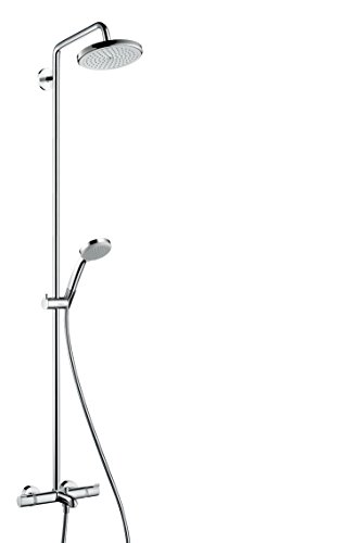 hansgrohe croma 220 air 1jet showerpipe wanne chrom 27223000 duschk pfe. Black Bedroom Furniture Sets. Home Design Ideas