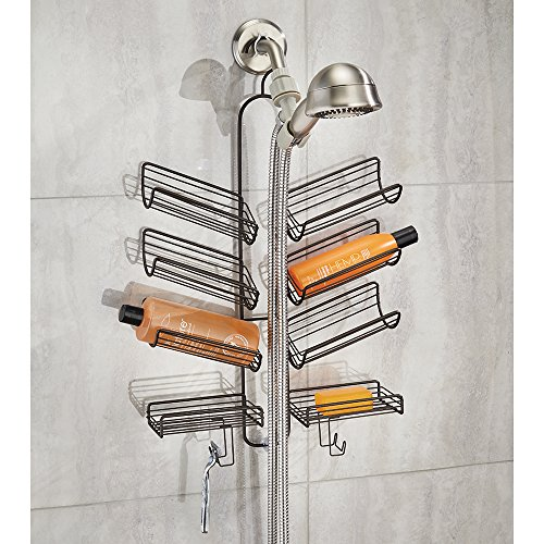 mdesign organizer f r dusche duschk pfe. Black Bedroom Furniture Sets. Home Design Ideas