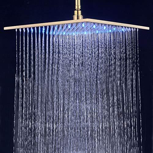 """Suguword 16""""40 cm LED Regendusche Kopf Wasserhahn oben ..."""